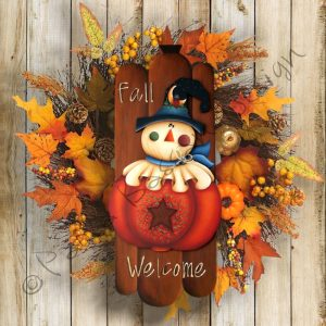 pattern-country-painting - autumn - scarecrow-paola-bassan-design-hand-made