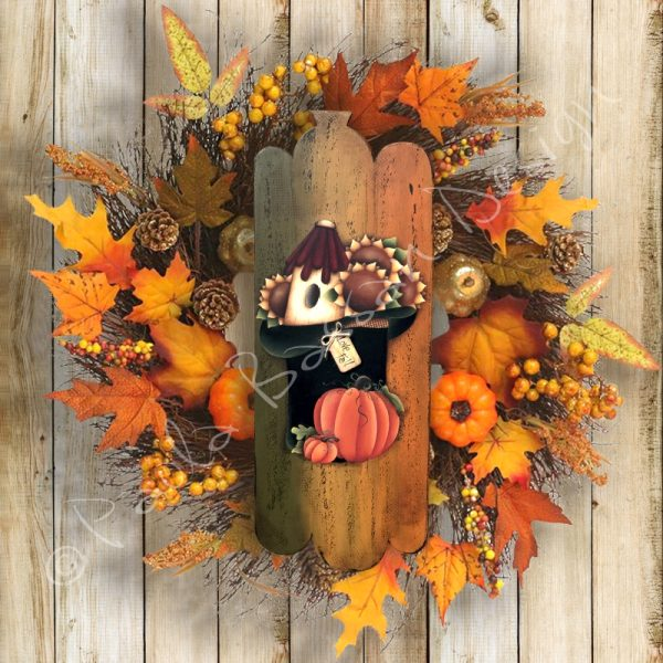 pattern-country-painting-italiano-fuoriporta- autumn- pumpkin- birdhouse-sunflower-paola-bassan-design-hand-made