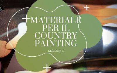 Materiale per il Country Painting